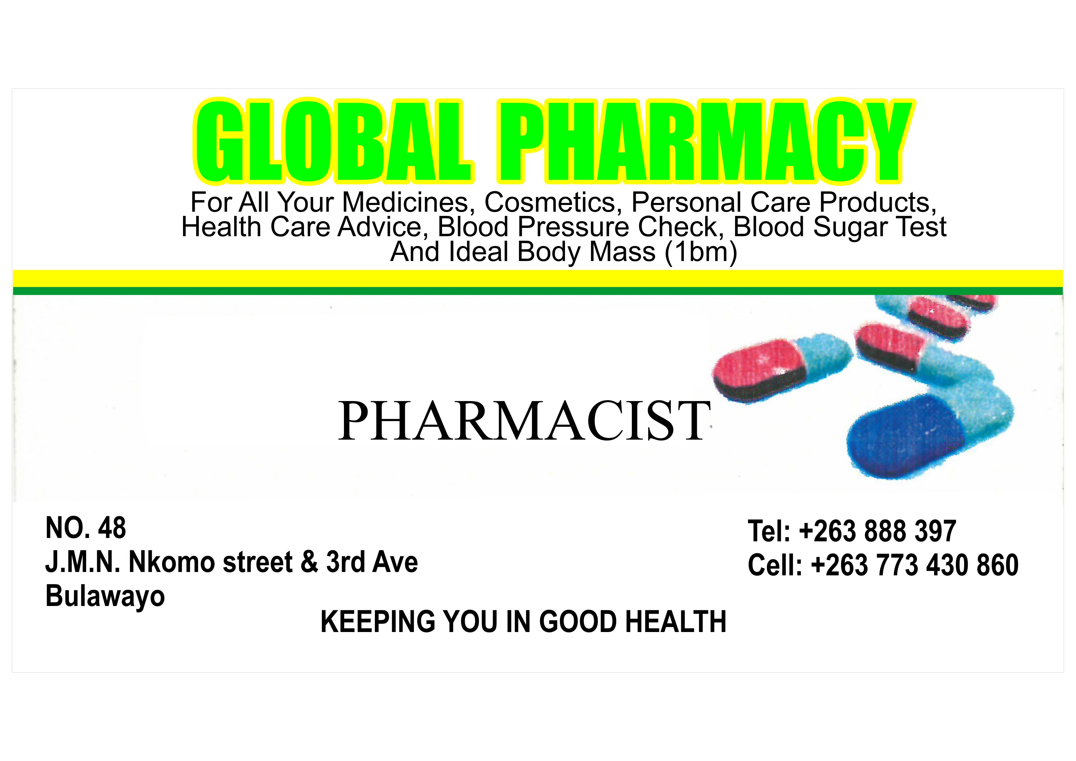 Global Pharmacy | Bluebook business directory