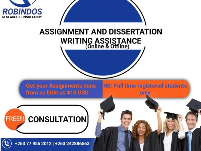 DISSERTATION AND ASSIGNMENT WRITING SERVICES IN ZIMBABWE